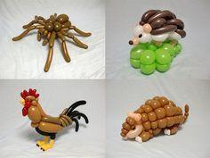 Esculturas surpreendentes feitas com balões (10 fotos)