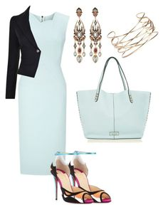 """""""Untitled #134"""" by jennfer-k on Polyvore featuring Roland Mouret, Christian Louboutin, Vivienne Westwood Anglomania, Rebecca Minkoff, Diego Percossi Papi and Boohoo"""