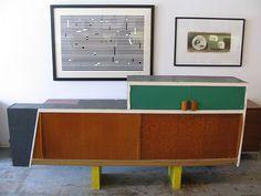 Le Corbusier / Charlotte Perriand kitchen cabinet from the Unite d' Habitation de Marseilles (1947) at Sam Kaufman