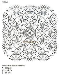 Scheme of plaid crochet for newborns Crochet Bedspread Pattern, Crochet Motif Patterns, Crochet Mandala, Crochet Diagram, Crochet Chart, Crochet Squares, Crochet Granny, Crochet Flowers, Knitting Patterns