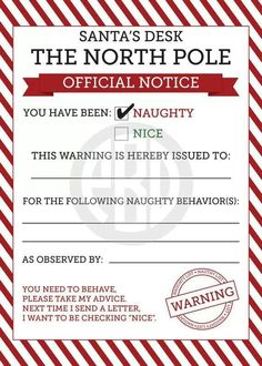 Superior Naughty Or Nice Elf On The Shelf Notices By PaperBellaDesign Goldner  Creative Idea!