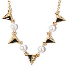 In Black and White Frontal Necklace