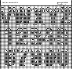 Cross Stitch Mania: Free Alphabet Snow Cross Stitch Chart