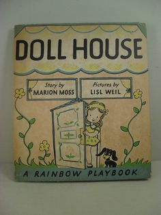 """Vintage Pop-Up book - """"Doll House"""" by Marion Moss - 1946"""