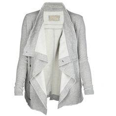 Korba Jacket ($60) ❤ liked on Polyvore featuring outerwear, jackets, casacos, tops, blazer, women, cowl neck jacket, allsaints and blazer jacket