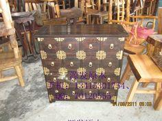 RMB 3500 Z070榆木药柜、储物柜、玄关柜、抽屉柜、实木、CD柜、文件柜、斗-淘宝网
