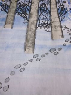 Middle School Art, School Fun, Art School, Winter Art Projects, School Art Projects, January Art, 6th Grade Art, Nativity Crafts, Preschool Art