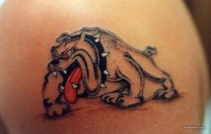 Cartoon Bulldog Tattoo