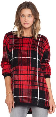 Good for Christmas morning. UNIF Jumbo Plaid Sweater is on sale now for - 25 % !