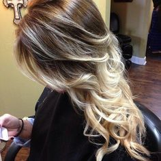 Long Curly Hairstyles Brown hair with blonde highlights Love Hair, Gorgeous Hair, Pretty Hair, Hair Styles 2014, Curly Hair Styles, Brown Hair With Blonde Highlights, Hair Highlights, Hair Color And Cut, Long Curly Hair