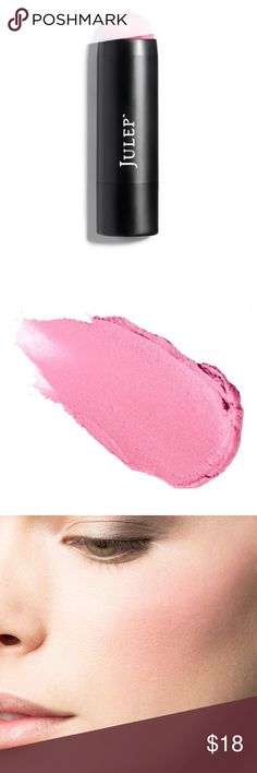 Julep Skip The Brush Creme to Powder Blush Stick NWT Julep Skip The Brush Creme to Powder Blush Stick in Peony Pink Color description: Flamingo Pink Sheen   A one stick wonder made for luminous, dewy cheeks, but versatile on eyes and lips, too. This soft-focus powder has ultrafine color pearls that go on creamy then set to a long-lasting powder finish. Easy to apply, easy to blend (no brush needed!), easy to keep in your clutch for on-the-go beauty touch-ups.   0.21 oz, 6 g Sephora Makeup…