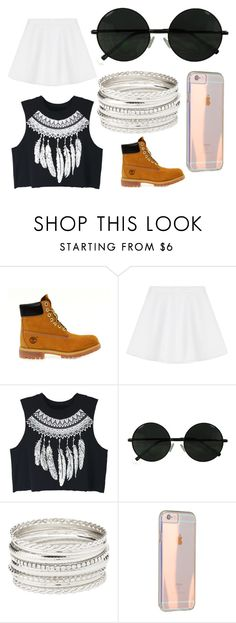 """""""Tati """" by lilicabsilveira-1 on Polyvore featuring Timberland, RED Valentino, WithChic and Charlotte Russe"""