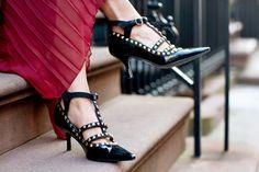 DIY: studded kitten heels