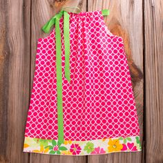 Lolly Wolly Doodle Hot Pink Floral Tie Dress 6/5