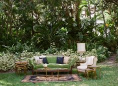 Moody Secret Garden Wedding Inspiration - Photography: Gianny Campos Photography – www.stylemepretty… Read More on SMP: www. Boho Garden Party, Vintage Garden Parties, Garden Party Decorations, Garden Party Wedding, Garden Theme, Wedding Decorations, Wedding Furniture, Garden Furniture, Baby Furniture