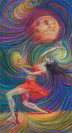 I love ART.Moon Dancer Energy Painting - Giclee Print Signed By Julia Watkins. Wow Art, Arte Pop, Art Plastique, Oeuvre D'art, Graphic, Painting & Drawing, Amazing Art, Giclee Print, Art Projects