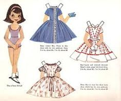 One of the highlights of my youth was to find paper dolls in McCall's magazines!!