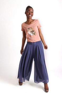 WISE OWL GRAPHIC T-SHIRT R 275.00 - Stretch t-shirt material - Round neckline - Short sleeves - Embellished owl graphic on front Owl Graphic, Palazzo Trousers, Wise Owl, Ankle Length, Wide Leg, Short Sleeves, Print Ideas, Legs, Prints