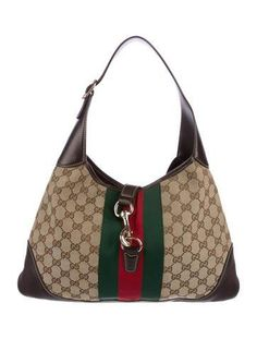 #The RealReal - #Gucci Gucci GG Canvas Jackie O Bouvier Hobo - AdoreWe.com