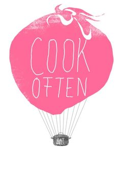 A print like this would be awesome in my pink and turquoise retro kitchen!