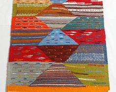 Throw Rugs, Multi-Colored Rug, Boho Rugs, Wool Rugs, Tribal Rug, Kilim Rugs, Bohemian Rugs, Kilim, Berber Carpet, Moroccan Rug, Geometric Rugs, Morrocan Rug, Zanafi