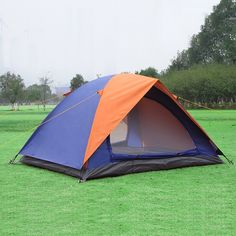 63.18$  Buy here - http://alil7x.worldwells.pw/go.php?t=32614828026 - Double layer 2 person outdoor camping tent glass fiber rod fishing tent waterproof hiking leisure tents beach awning 4 season