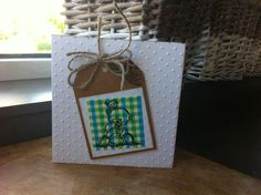 Baby kaartje DSP: Hema. Folder: SU. Stamps: Artemio & Different colors. Babycard