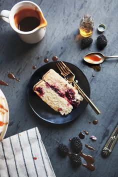 Blackberry and Bourbon Caramel Cake — a Better Happier St. Sebastian