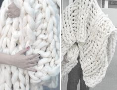DIY chunky knit throw (links to diy tutorials, patterns & stores)