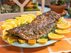 Get Sunny's Orange Jalapeño Party Ribs Recipe from Food Network/The Kitchen Rib Recipes, Dinner Recipes, Smoker Recipes, Dinner Ideas, Meal Ideas, Recipies, Dinner Entrees, Grilling Recipes, Yummy Recipes