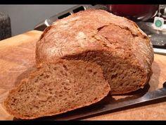 Ingredients: 2 c white flour c dark rye flour c wheat bran 1 tsp salt tsp dry yeast or fresh yeast 2 tsp molasses 1 water 1 tbsp oil (you. Bread Bun, Bread Cake, Dessert Bread, Artisan Bread Recipes, Bread Machine Recipes, Homemade Rye Bread, Rye Flour, How To Make Homemade, Dry Yeast