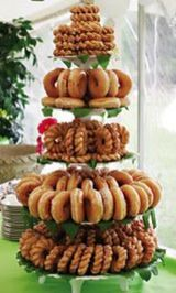 More donut display ideas for JBo Police Academy Graduation! - More donut display ideas for JBo Police Academy Graduation! Ward Christmas Party, Christmas Brunch, Christmas Breakfast, Grinch Christmas, Christmas Morning, Xmas Party, Donut Wedding Cake, Wedding Donuts, Wedding Desserts
