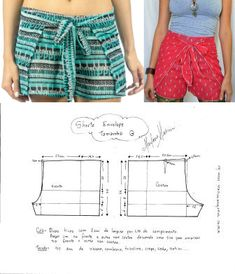 Sewing Patterns Free Sewing Tutorials Sewing Hacks Free Sewing Clothing Patterns Sewing Crafts Make Your Own Clothes Pattern Cutting Clothes Crafts Sewing Shorts, Diy Shorts, Sewing Clothes, Sewing Patterns Free, Free Sewing, Clothing Patterns, Pattern Sewing, Sewing Tutorials, Free Pattern