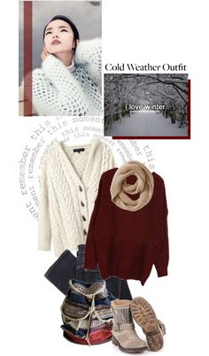 """I love winter"" by samah ❤ liked on Polyvore"