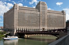 The Merchandise Mart is the world's second largest office building (after the Pentagon!). Built to centralize wholesale goods vendors and businesses, this building is quickly turning into a hub for Chicago's booming tech companies.