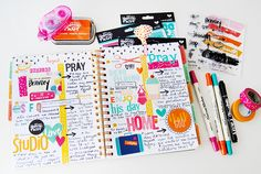 """Hellloooooo beautiful people! I'm so excited to be here on the blog today because this is the first time I'm posting a layout in my Illustrated Faith Planner!!! How cool is THAT!?  Aside from oohing & aahing over how cute the planner designs are, check out how Iused the """"I Am Strong"""" devotional kitby Dayspring designed by Wilna Furstenberg. …"""