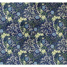 Blue Daises by William Morris Queen Duvet on CafePress.com
