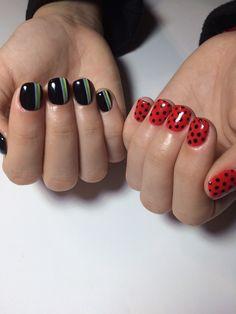 Cute Acrylic Nail Designs, Simple Acrylic Nails, Ladybug Nail Art, Arylic Nails, Anime Nails, Kawaii Nails, Pretty Nail Art, Dream Nails, Stylish Nails