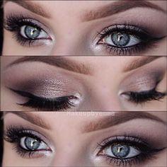 Beautiful Natural Eye Make-up. #Beauty #TheLASSBible