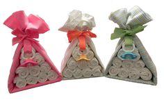 Diaper Cake Stork Bundle - Unique Baby Shower Gift, Centerpiece, Favor receiving blanket pacifier girl boy neutral.