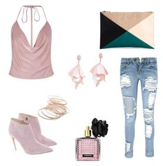 """""""dusty pink"""" by melziggy-mb on Polyvore featuring Boohoo, Sole Society, Ralph Lauren, Red Camel, Oscar de la Renta Pink Label and Victoria's Secret"""