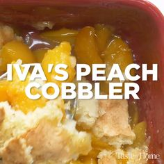 Ivas Peach Cobbler My mother received this peach cobbler recipe from a friend of hers many years ago and fortunately she shared it with me Boise is situated right between. Tolle Desserts, Köstliche Desserts, Delicious Desserts, Dessert Recipes, Cake Candy, Peach Cobblers, Def Not, Canned Peaches, Savoury Cake