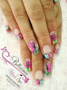 Dope Nails, My Nails, Spring Nails, Summer Nails, Dope Nail Designs, Hello Kitty Images, Nail Art Images, Manicure E Pedicure, Beauty Spa