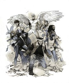 X-Men: Gold #1 Cover Comic Art