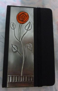 Red Rose Notebook by Caroline @ Pewter Concepts