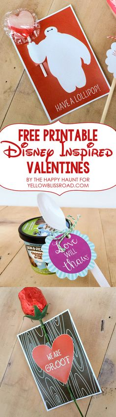 Free Printable Disney Inspired Valentines