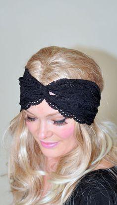 Hey, I found this really awesome Etsy listing at https://www.etsy.com/listing/127109872/turban-headband-black-lace-turban-black