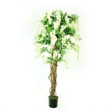 Kunststof bloemenboom Kiruna wit 180 cm