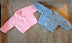 To fit a 12 inch size baby finished measurement is 15 inch chest Baby Hat Knitting Patterns Free, Baby Patterns, Crochet Patterns, Crochet Cardigan Pattern, Blanket Crochet, Knit Baby Sweaters, Baby Doll Clothes, Baby Cardigan, Crochet Clothes