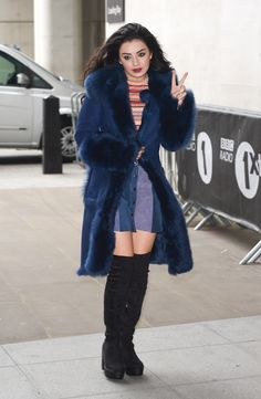 Charli XCX seen at BBC Radio One on February 10, 2015 in London, England.